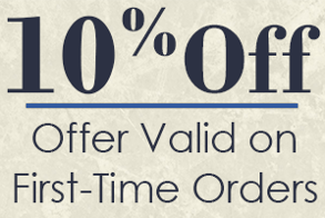 10% Off, Offer Valid on First-Time Orders